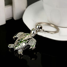 Hot Silvery 3D Pendent Sea Turtle Keyring Keychain Keyfob Holder Christmas Gift