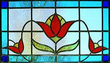 Framed Print - Stained Glass Window Tulip Flower (Picture Daisy Orchid Rose Art)