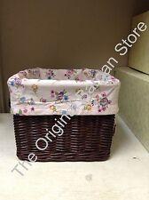 Pottery Barn Kids Sabrina storage Spring Basket Liner Cover Floral Pink Large