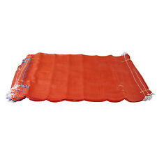 100 Orange Net Sacks Mesh Bags Kindling Logs Potatoes Onions 50cm x 80cm / 30Kg