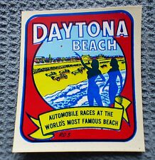 Vintage souvenir travel water decal DAYTONA BEACH Florida - pinup