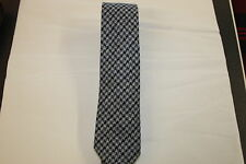 Scottish 100% Wool  Woven Tweed Tie - Grey/Black Dogtooth Pattern
