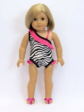"""Zebra Print Bathing Suit made for 18"""" American Girl  Doll Clothes New"""