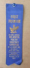 1937 Second Annual Mid-Winter Poultry Industries Exposition of LA County Award
