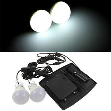 Outdoor/Indoor Solar Powered LED Lighting 2 Two Bulbs Lamp LED Light System