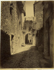 Photo Albuminé La Turbie Côte d'Azur Alpes Maritimes 1880