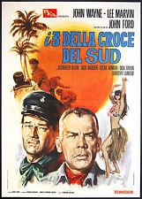 CINEMA-manifesto I TRE DELLA CROCE DEL SUD wayne, marvin, JOHN FORD