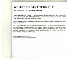 (DT700) We Are Enfant Terrible, Filthy Love - The Shoes Remix - DJ CD
