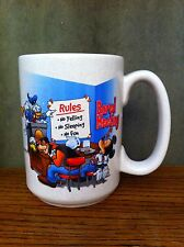 Walt Disney World Bored Meeting Rules Mickey Mouse Donald Goofy CUP MUG