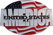 USA AMERICAN FLAG Belt Buckle United States of America