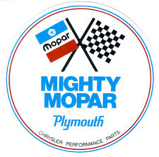 Mighty Mopar Performance Parts large sticker / decal Dodge Chrysler Plymouth