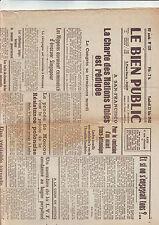 le bien public 22/06/1945 radio bourgogne franche comté/ charte ONU