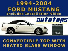 Mustang Convertible Soft Top and Heated Glass Window in Black   Install Video