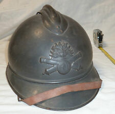 Casque WWI Adrian 1915 ARTILLERIE SUPERBE ORIGINAL French Helmet 1914/1918