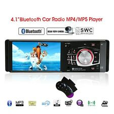 "4.1"" HD Screen Stereo Car Radio 1 DIN Bluetooth MP5 Player FM Aux W/Remote USB"
