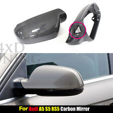 Replacement Carbon Fiber Mirror Caps for Audi A5 S5 RS5 with Side Assist 2010 UP