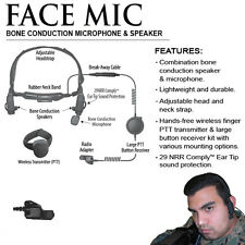 Earphone Connection FACE MIC Bone Conduction Headset for Motorola XTS Radios
