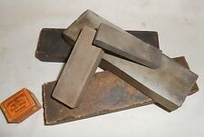 5 Antique Razor Hones & 1 Carborundum Strop Dressing : Sharpening Stones Barber