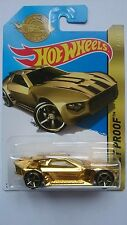 HOT WHEELS 2016 SPECIAL EDITION BULLET PROOF GOLD DPN12 NEW LONG BISTER LIMITED