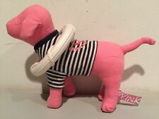 "Victoria's Secret Pink Dog Black White Stripe Shirt Life Preserver Port AU 6""!"