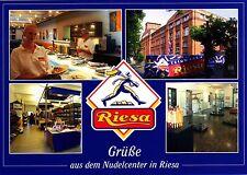 Grüße aus dem Nudelcenter in Riesa , Ansichtskarte