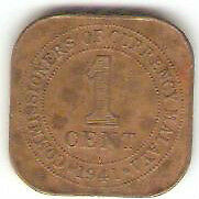 Offer  Malaya KGVl one cent 1941i bronze coin high grade! ?? key date!