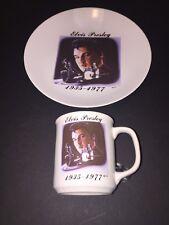 Elvis Matching Plate & Coffee / Tea Mug Set! Gift Creations, CA. Immac. Cond.