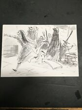 Tim Burton Nightmare Before Christmas Original Storyboard Art Artwork Charcoal