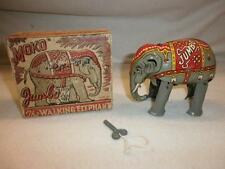 VINTAGE MOKO LESNEY TINPLATE VERY RARE BOXED C/WORK JUMBO WALKING ELEPHANT 1948