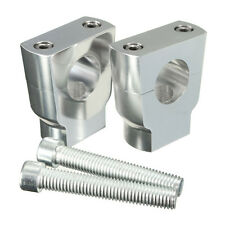 Pair 7/8″ 22mm CNC Motorcycle Handle Bar Mount Risers Clamp Aluminium For ATV