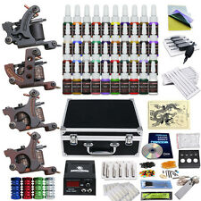 Tattoo Kit 4 Top Machine Gun 40 Color Ink Power Supply Needle Complete D139VD-3