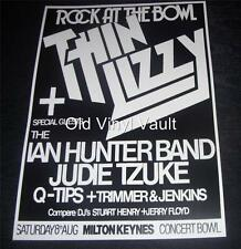 Thin Lizzy Rock At The Bowl,Milton Keynes 1981 Repro Concert Poster
