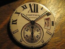 Cartier Automatic Roman Numeral Swiss Watch Advertisement Pocket Lipstick Mirror
