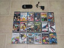 Sony PSP Street Schwarz mit 3 Gratis Spiele + Zubehörpaket #462 LESEN!!