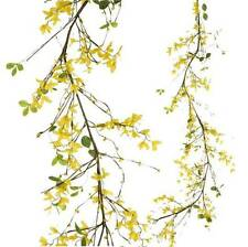 Forsythia Garland w yellow flowers 5 ft long g3406141 NEW RAZ Imports floral