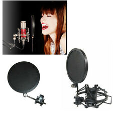 Professional Recording Studio Microphone Mic Wind Screen Pop Filter Mask Shield