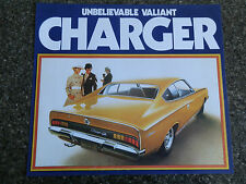 CHRYSLER VALIANT 1971 VH CHARGER SALES BROCHURE.''MINT''
