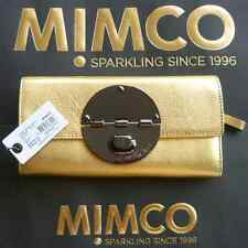 NEW MIMCO LARGE TURNLOCK WALLET in GOLD METALLIC LEATHER rrp $229 SALE $139
