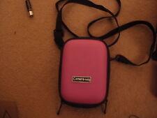 Pink hard shell camera case bag fits Vivitar ViviCam 8018 FREE POSTAGE