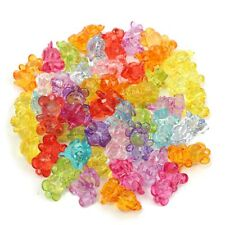 50pcs Plastic Mini Baby Shower Bear Favors Christening Charms Decorations Gift