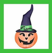 Airblown Inflatable Lighted Witch Hat Pumpkin Halloween Yard Decoration