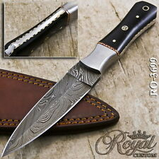 "9"" ROYAL HAND MADE DAMASCUS FULL TANG DAGGER - MOSAIC PIN - RO-3699"