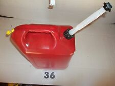 #36 BLITZ 6 1/2 GAL WATER CAN PAINTED RED FOR GAS USE & FLEX SPOUT-VENT TAB