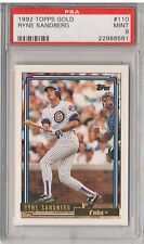 1992 Topps Gold #110 - RYNE SANDBERG - PSA 9 Mint - Chicago Cubs