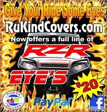 Raptor 700/350/450/250  RED EYES  HeadLight Covers RuKind YAMAHA USA TRACKING