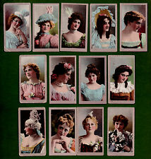 13/25 1901 AMERICAN TOBACCO CIGARETTE CARDS BEAUTIES OLD GOLD BACK SET 30