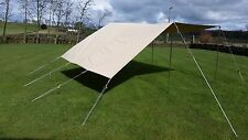 PRO BELL TENT AWNING  /  PORCH   ** 4 or 5m bell tent **  3 POLES  WOOD SLIDERS
