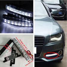 Car 8LED Euro Daytime Running Light DRL Daylight Fog Lamp Day Lights For Audi