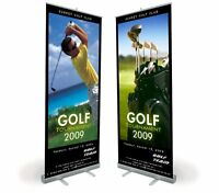 Roll Up Banner Cassette Stands 800mm Wide - Pack of 12 - Free Delivery