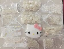 DIY Pink Hello Kitty Bling Cell Phone Case Pearl Flatback Cabochon Deco Kit Lot